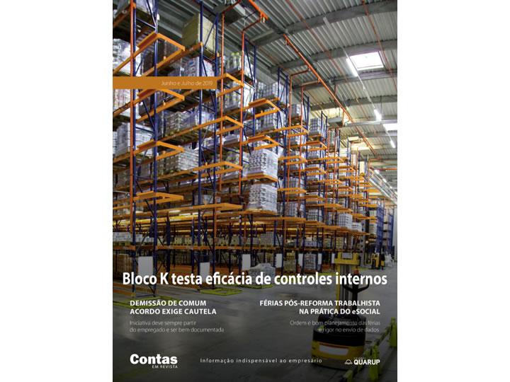 Imagem de Revista Online JFC Jun/Jul-2019 - Bloco K testa eficácia de controles internos
