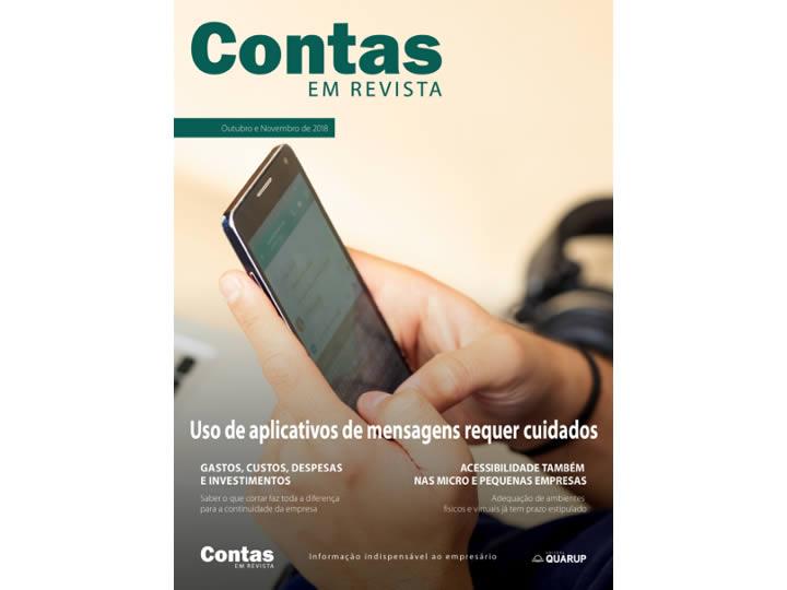 Imagem de Revista Online JFC Out/Nov/2018 - Uso de Aplicativos de Mensagens Requer Cuidados