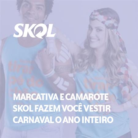 Imagem do projeto Marcativa, Camarote Skol e Soul Dila marcam o carnaval de Salvador 2017.