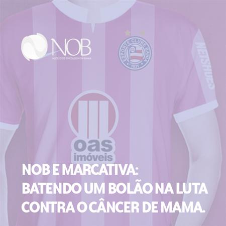 Imagem do projeto NOB e Marcativa: Batendo um bolão na luta contra o câncer de mama.