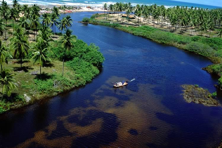 Imagem de Inicio das atividades de limpeza e preservação do trecho da Foz do Rio Imbassaí